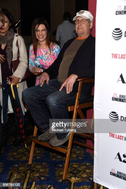 Actor Chevy Chase and Caley Leigh Chase attend the Los Angeles premiere of The Last Movie Star at the Egyptian Theatre on March 22 2018 in Hollywood...