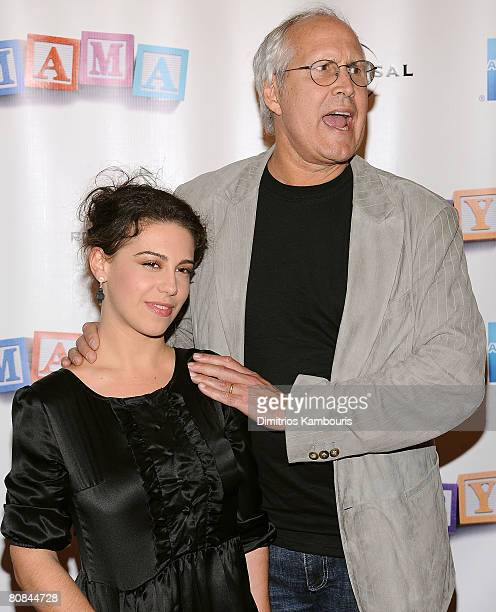 Actor Chevy Chase and daughter Caley Leigh arrive to the Baby Mama premiere at the Ziegfeld Theatre during the 2008 Tribeca Film Festival on April 23...