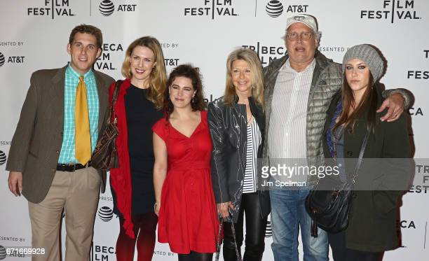 Actor Chevy Chase and family attend the 'Dog Years' screening during the 2017 Tribeca Film Festival at Cinepolis Chelsea on April 22 2017 in New York...