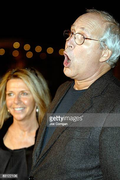 Actor Chevy Chase and his wife Jayni attend the wedding reception of Howard Stern and Beth Ostrosky at Le Cirque on October 3 2008 in New York City