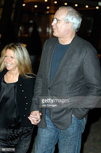 Actor Chevy Chase and his wife Jayni attend the wedding reception of Howard Stern and Beth Ostrosky at Le Cirque on October 3, 2008 in New York City.