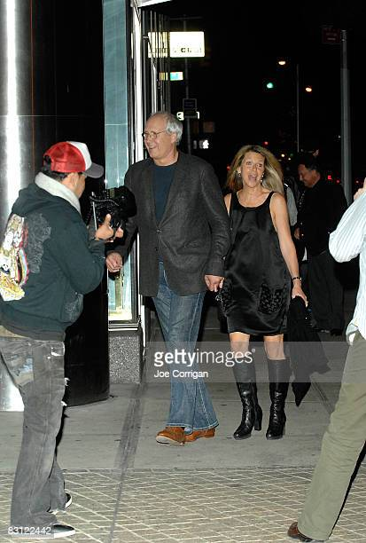 Actor Chevy Chase and his wife Jayni Chase attend the wedding of Howard Stern and Beth Ostrosky at Le Cirque on October 3 2008 in New York City