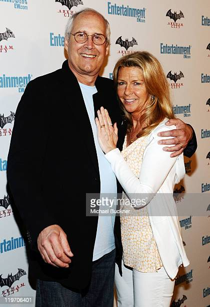Actor Chevy Chase and Jayni Chase arrive at Entertainment Weekly's 5th Annual ComicCon Celebration sponsored by Batman Arkham City held at Float Hard...
