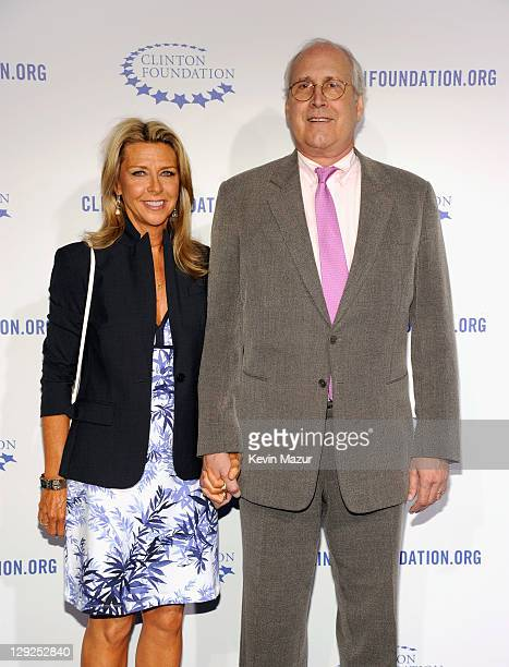 Actor Chevy Chase and Jayni Luke attend The Clinton Foundation's A Decade Of Difference Gala at The Hollywood Palladium on October 14 2011 in Los...