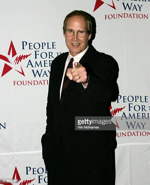 Actor Chevy Chase arrives for the Spirit of Liberty Awards at the Kennedy Center December 14 2004 in Washington DC