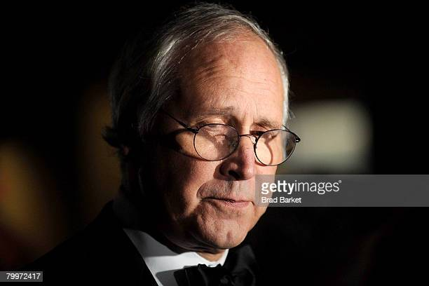 Actor Chevy Chase attends the Academy Of Motion Picture Arts Sciences official Oscar Celebration at the Carlyle Hotel on February 24 2008 in New York...