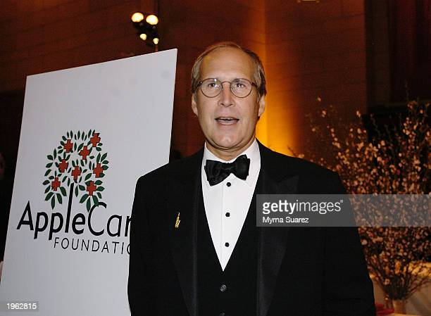 Actor Chevy Chase attends the AppleCare Gala at Cipriani restaurant April 30 2003 in New York City