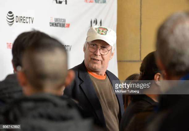 Actor Chevy Chase attends the Los Angeles premiere of The Last Movie Star at the Egyptian Theatre on March 22 2018 in Hollywood California
