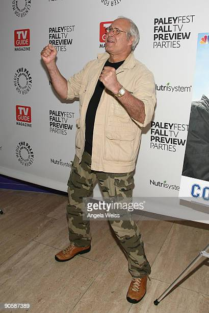 Actor Chevy Chase attends The PaleyFest TV Guide Magazine's NBC FALL TV Preview Party at the Paley Center for Media on September 10 2009 in Beverly...