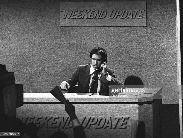 Actor Chevy Chase attends the taping of Taping of Saturday Night Live on February 14 1976 at Rockefeller Center in New York City