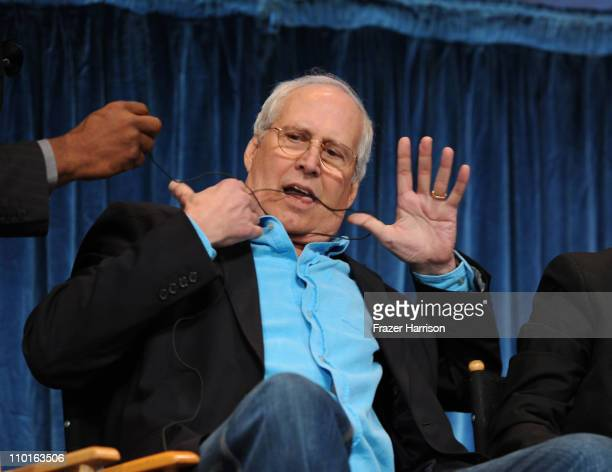 Actor Chevy Chase on stage at the Paley Center For Media's Paleyfest 2011 event honoring Community at the Saban Theater on March 15 2011 in Beverly...