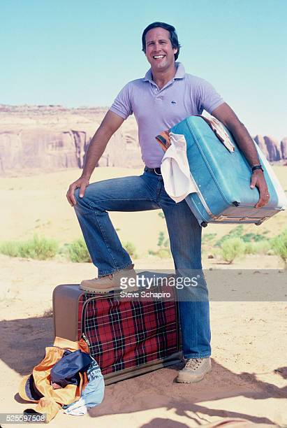 Actor Chevy Chase posing for a publicity still for National Lampoon's Vacation