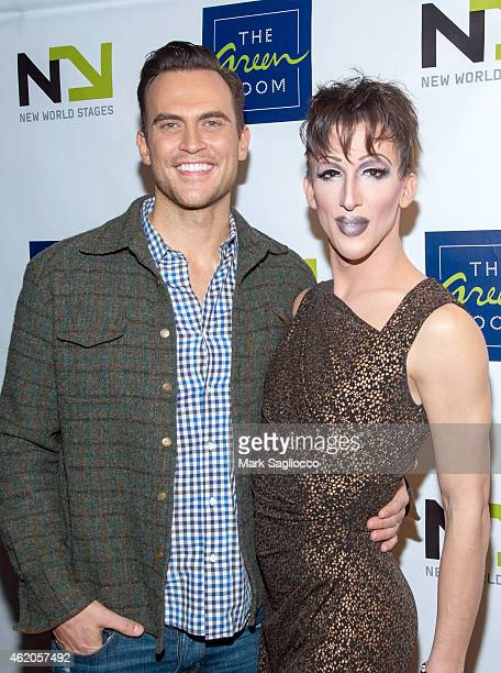 Actor Cheyenne Jackson and Marti Gould Cummings attend 'The Not So Late Show' at the New World Stages on January 23 2015 in New York City