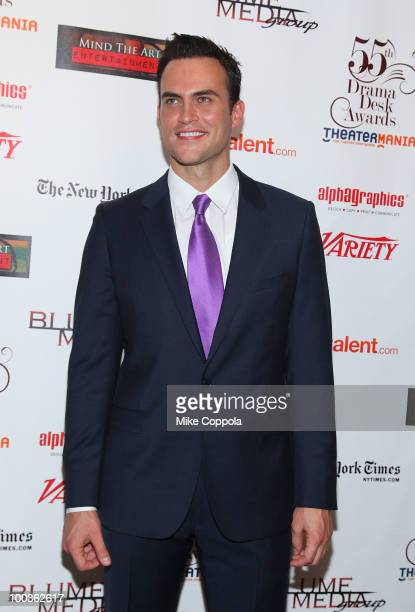 Actor Cheyenne Jackson arrives at the 55th Annual Drama Desk Awards at the FH LaGuardia Concert Hall at Lincoln Center on May 23 2010 in New York City