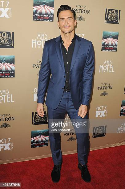 Actor Cheyenne Jackson arrives at the Premiere Screening Of FX's 'American Horror Story Hotel' at Regal Cinemas LA Live on October 3 2015 in Los...