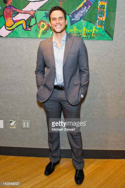 Actor Cheyenne Jackson attends the 2012 Community Word Project Benefit at Bonhams on April 2, 2012 in New York City.
