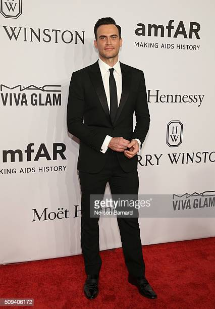 Actor Cheyenne Jackson attends the 2016 amfAR New York Gala at Cipriani Wall Street on February 10 2016 in New York City
