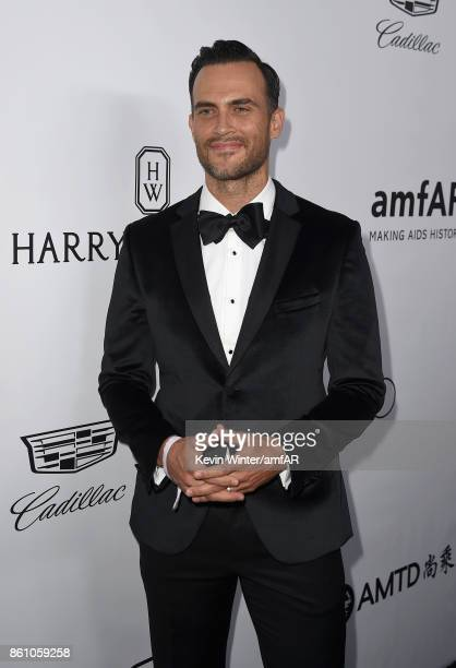 Actor Cheyenne Jackson attends the amfAR Gala Los Angeles 2017 at Ron Burkle's Green Acres Estate on October 13 2017 in Beverly Hills California