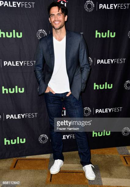 Actor Cheyenne Jackson attends The Paley Center For Media's 34th Annual PaleyFest Los Angeles 'American Horror Story 'Roanoke' screening and panel at...