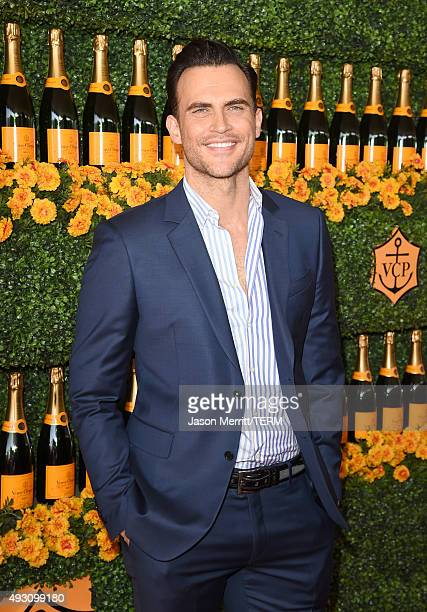 Actor Cheyenne Jackson attends the SixthAnnual Veuve Clicquot Polo Classic at Will Rogers State Historic Park on October 17 2015 in Pacific Palisades...