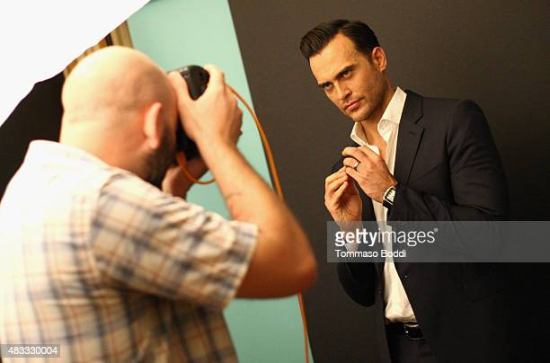 Actor Cheyenne Jackson of FX's 'American Horror Story Hotel' attends the Getty Images Portrait Studio powered by Samsung Galaxy at 2015 Summer TCA's...