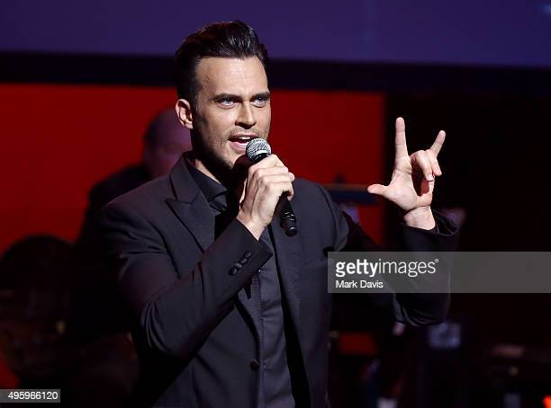 Actor Cheyenne Jackson performs onstage during the Screen Actors Guild Foundation 30th Anniversary Celebration at Wallis Annenberg Center for the...