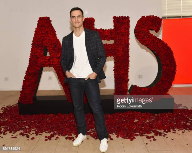 Actor Cheyenne Jackson poses for portrait at the 'American Horror Story The Style Of Scare' exhibit at The Paley Center for Media on June 2 2017 in...