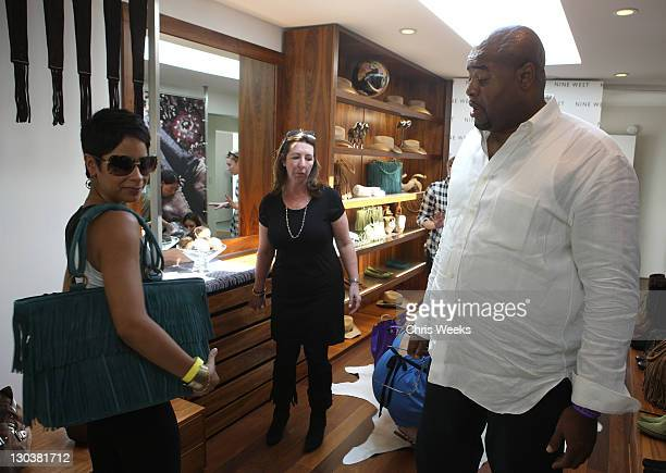 Actor Chi McBride and his wife Julissa at the Nine West suite at the Kari Feinstein Emmy Style Lounge at a private residence on September 18 2008 in...