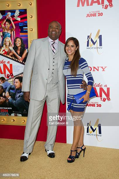 Actor Chi McBride and his wife Julissa Marquez attend the Los Angeles Premiere of Think Like A Man Too at TCL Chinese Theatre on June 9 2014 in...