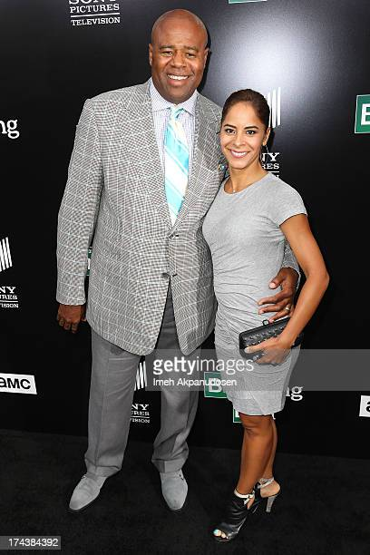Actor Chi McBride and his wife Julissa McBride arrive as AMC Celebrates the final episodes of 'Breaking Bad' at Sony Pictures Studios on July 24 2013...