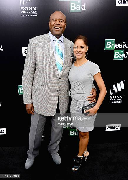 Actor Chi McBride and Julissa McBride arrive as AMC Celebrates the final episodes of Breaking Bad at Sony Pictures Studios on July 24 2013 in Culver...