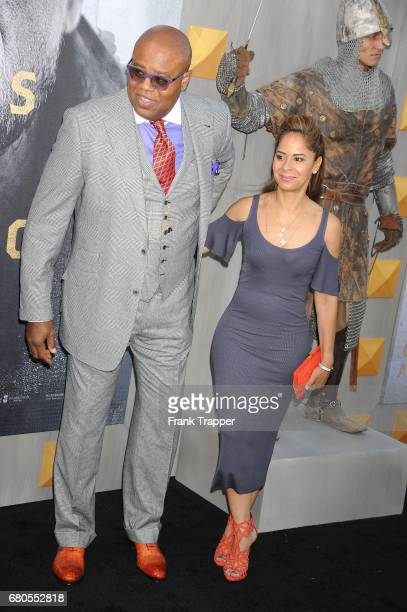 Actor Chi McBride and Julissa McBride arrive at the premiere of Warner Bros Pictures' King Arthur Legend Of The Sword at TCL Chinese Theatre on May 8...