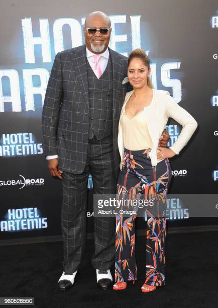 Actor Chi McBride and Julissa McBride arrive for the Global Road Entertainment's Hotel Artemis Premiere held at Regency Village Theatre on May 19...