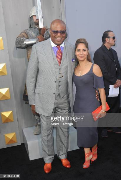 Actor Chi McBride and Julissa McBride arrive for the Premiere Of Warner Bros Pictures' King Arthur Legend Of The Sword held at TCL Chinese Theatre on...