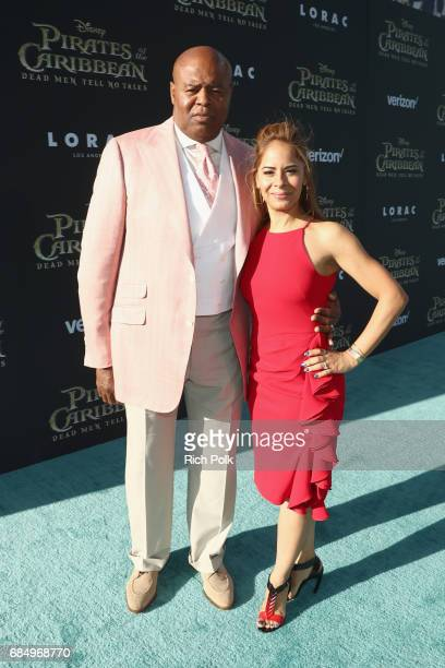 """Actor Chi McBride and Julissa McBride at the Premiere of Disney's and Jerry Bruckheimer Films' """"Pirates of the Caribbean Dead Men Tell No Tales"""" at..."""