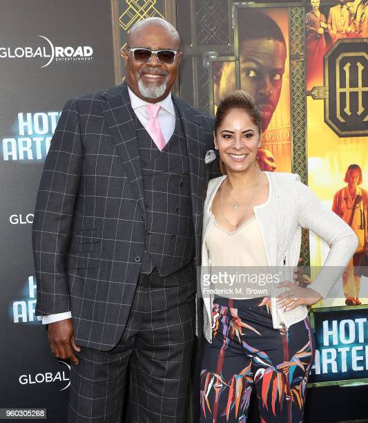Actor Chi McBride and Julissa McBride attend Global Road Entertainment's Hotel Artemis Premiere at the Regency Village Theatre on May 19 2018 in...