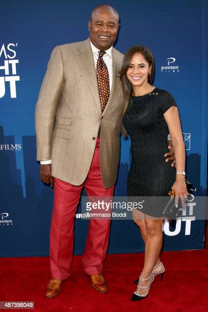 Actor Chi McBride and Julissa Mcbride attend the Mom's Night Out Los Angeles premiere held at the TCL Chinese Theatre IMAX on April 29 2014 in...