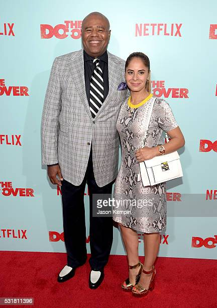 Actor Chi McBride and Julissa Mcbride attend the premiere of Netflix's 'The Do Over' at Regal LA Live Stadium 14 on May 16 2016 in Los Angeles...