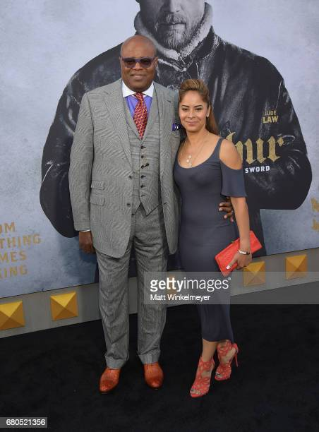 Actor Chi McBride and Julissa McBride attend the premiere of Warner Bros Pictures' King Arthur Legend Of The Sword at TCL Chinese Theatre on May 8...