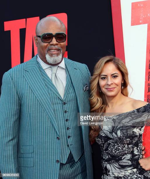 Actor Chi McBride and Julissa McBride attend the premiere of Warner Bros Pictures and New Line Cinema's Tag at Regency Village Theatre on June 7 2018...