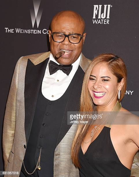 Actor Chi McBride and Julissa Mcbride attend The Weinstein Company and Netflix Golden Globe Party presented with FIJI Water Grey Goose Vodka Lindt...