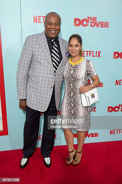 Actor Chi McBride and Julissa Mcbride attends the Premiere of Netflix's The Do Over at the Regal LA Live Stadium 14 on May 16 2016 in Los Angeles...