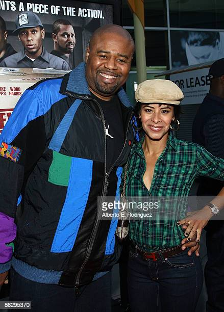 Actor Chi McBride and wife Julissa McBride arrive at the screening of Summit Entertainment's Next Day Air held at the Arclight Theaters on April 29...