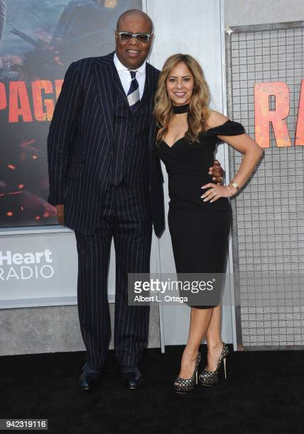 Actor Chi McBride and wife Julissa McBride arrive for the Premiere Of Warner Bros Pictures' Rampage held at Microsoft Theater on April 4 2018 in Los...