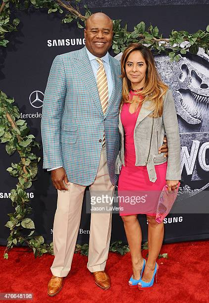Actor Chi McBride and wife Julissa McBride attend the premiere of Jurassic World at Dolby Theatre on June 9 2015 in Hollywood California