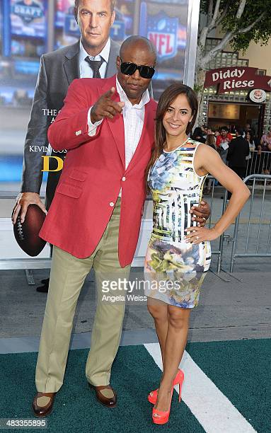 Actor Chi McBride and wife Julissa McBride attend the premiere of Summit Entertainment's 'Draft Day' presented by Bud Light at the Regency Bruin...