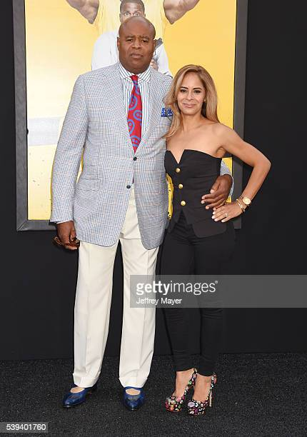 Actor Chi McBride and wife Julissa McBride attend the premiere of Warner Bros Pictures' 'Central Intelligence' at Westwood Village Theatre on June 10...