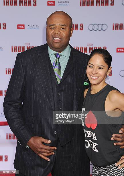 Actor Chi McBride arrives at the Los Angeles Premiere of Iron Man 3 at the El Capitan Theatre on April 24 2013 in Hollywood California