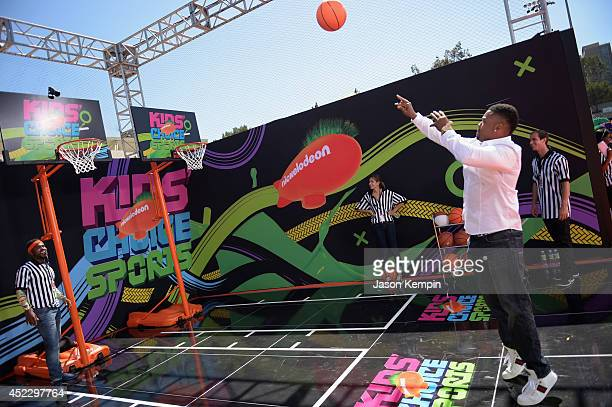 Actor Chico Benymon attends Nickelodeon Kids' Choice Sports Awards 2014 at UCLA's Pauley Pavilion on July 17 2014 in Los Angeles California