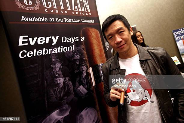 Actor Chin Han attends the Pilot Pen and GBK Luxury Lounge honoring Golden Globe nominees and presenters held at the W Hollywood on January 9 2015 in...